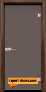 Стъклена интериорна врата Basic G 10-1, каса Орех