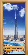 Стъклена интериорна врата Print G 13-16 Dubai, каса Светъл дъб